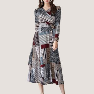 Laila Print Wrap Dress - STL Fashion House