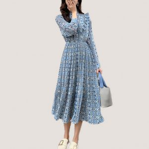Lozanne Pleated Dress - STL Fashion House