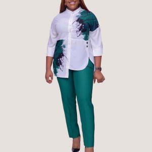 Green Bryn Two Piece Set - STL Fashion House