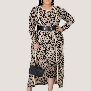 Leopard Print Two Piece Set - STL Fashion House