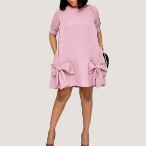 Short Sleeves Shift Dress - STL Fashion House