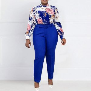 Blue Belted Two Piece Set - STL Fashion House
