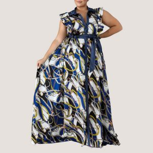 Blue Cardenas Maxi Dress - STL Fashion House