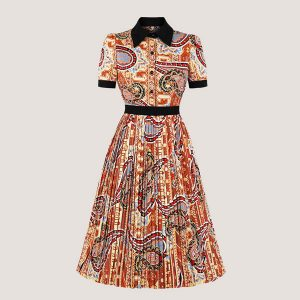 Gina Pleated Midi Dress - STL Fashion House