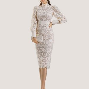 LIandra Pencil Lace Dress - STL Fashion House