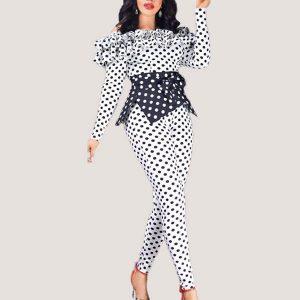 Ruffles Polka Dot Jumpsuit - STL Fashion House